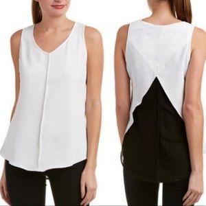 CAbi domino split back sleeveless top syle # 3076